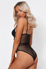 Mia Black Lace Bodysuit