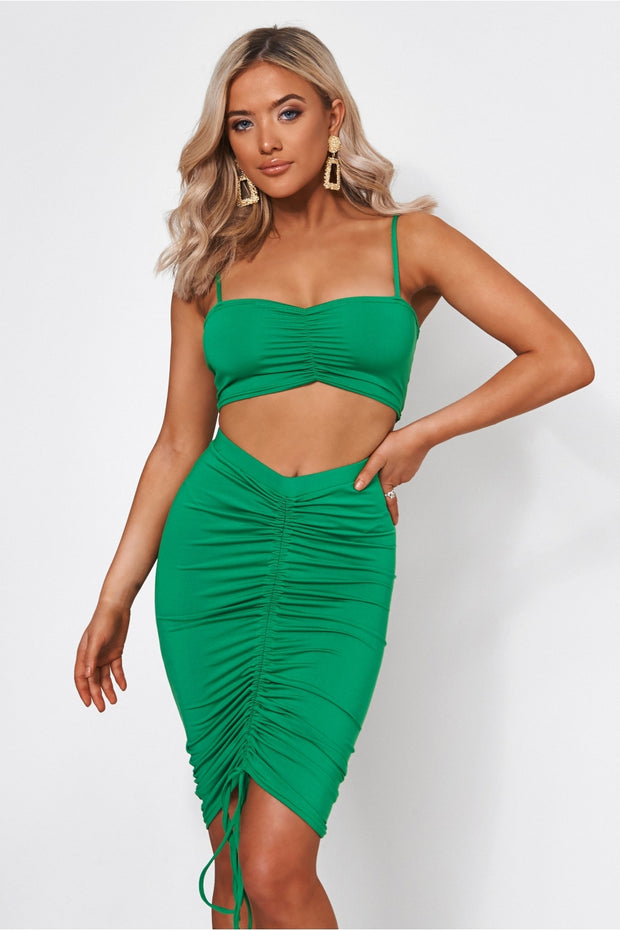 Alia Green Ruched Co-Ord