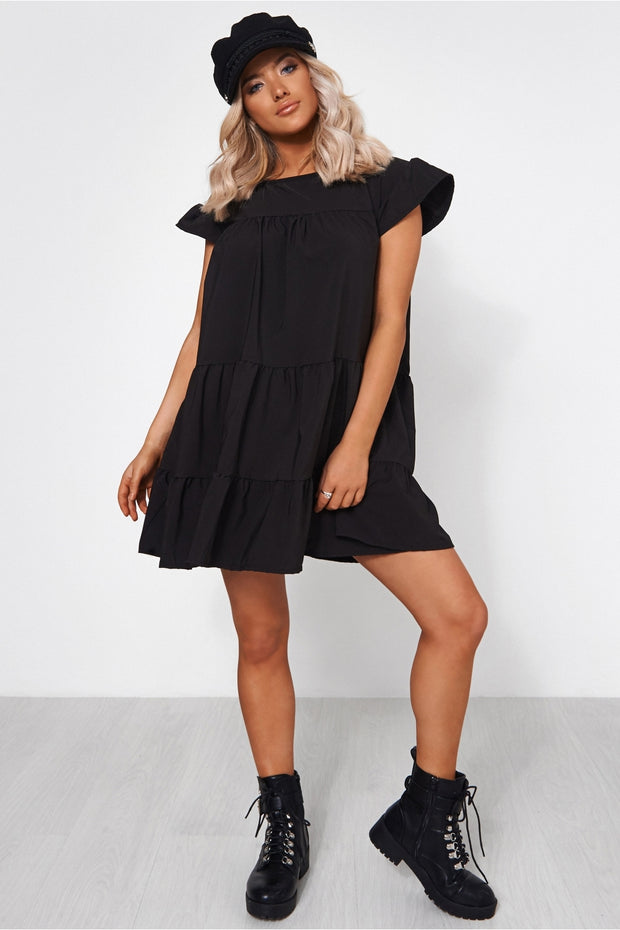 Luca Petite Black Smock Dress