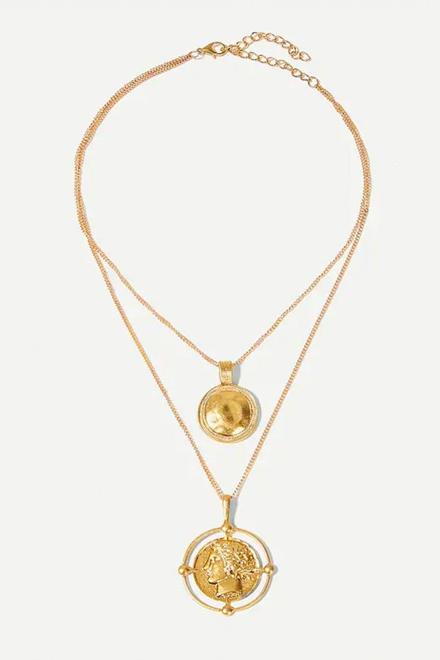 Gold Overlay Coin Pendant Necklace