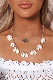 Silver Overlay Sea Shell Necklace