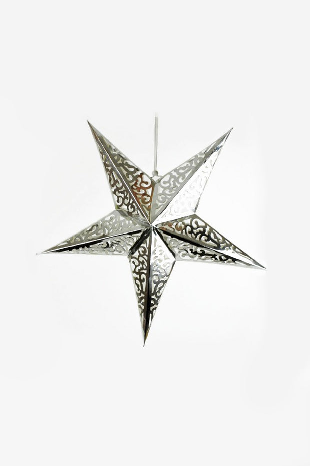 Large Silver Star Hanging Decoration