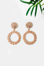 Alia Rose Gold Circle Statement Earrings