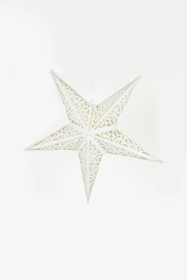 Large White Star Hanging Decoration