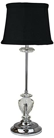 Faye Black Crystal Table Lamp