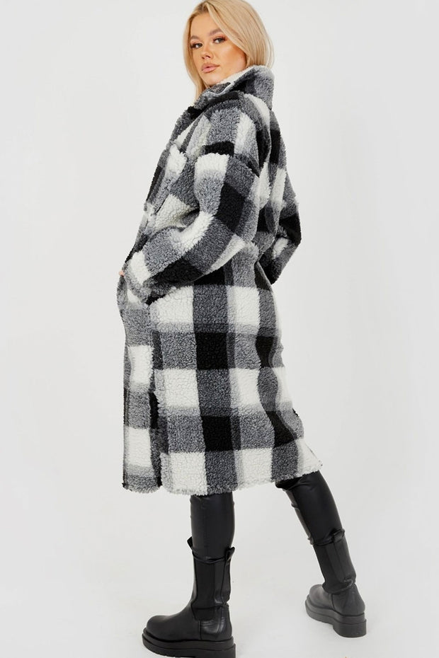 Black Long Checked Shacket