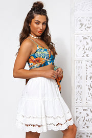 Freya White Midi Skirt