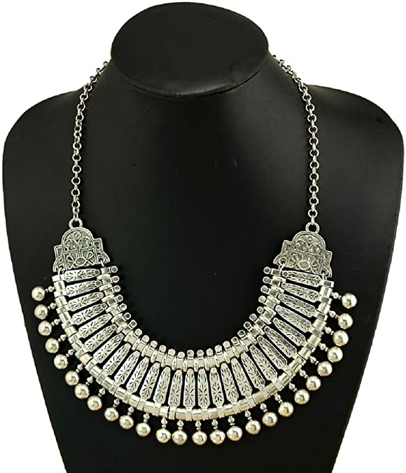 Zamac Silver Tribal Necklace