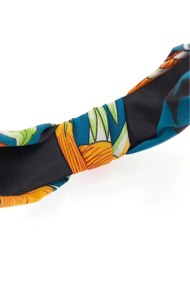 Orange Tropical Print Knot Headband