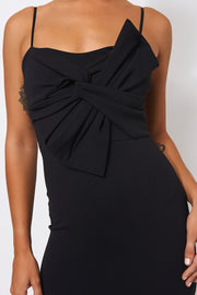 Black Bow Detail Bodycon Dress