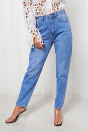 Indigo Blue Denim Mom Jeans