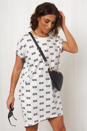 White Oversized T-Shirt Dress