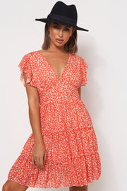 Darna Red Floral Shift Dress