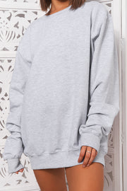 Grey Oversized Sweatshirt
