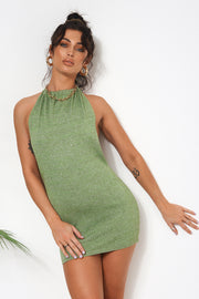 Lyra Green Backless Mini Dress