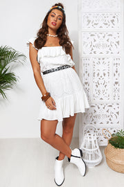 White Broderie Anglaise Frill Sundress
