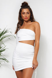 Valencia One Shoulder White Bodycon Dress