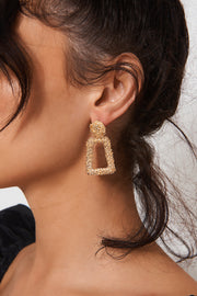 Nia Gold Statement Earrings