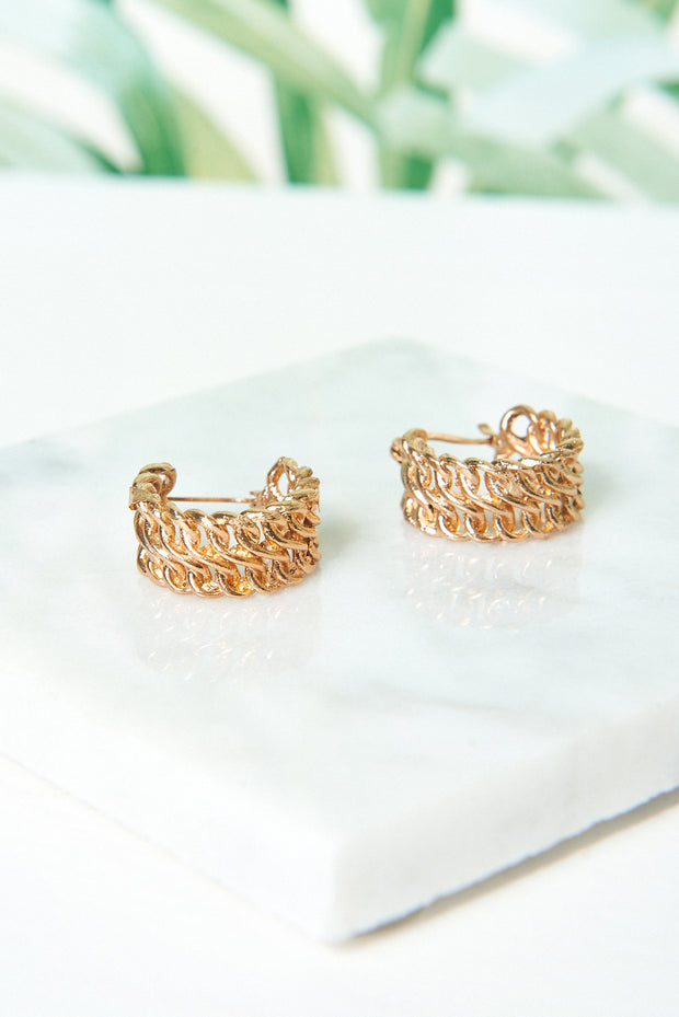 Amelia Gold Chain Earrings