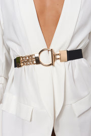 Havana Gold Circle Chain Belt