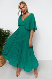 Tama Green Open Back Maxi Dress