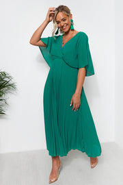 Tama Green Open Back Midi Dress