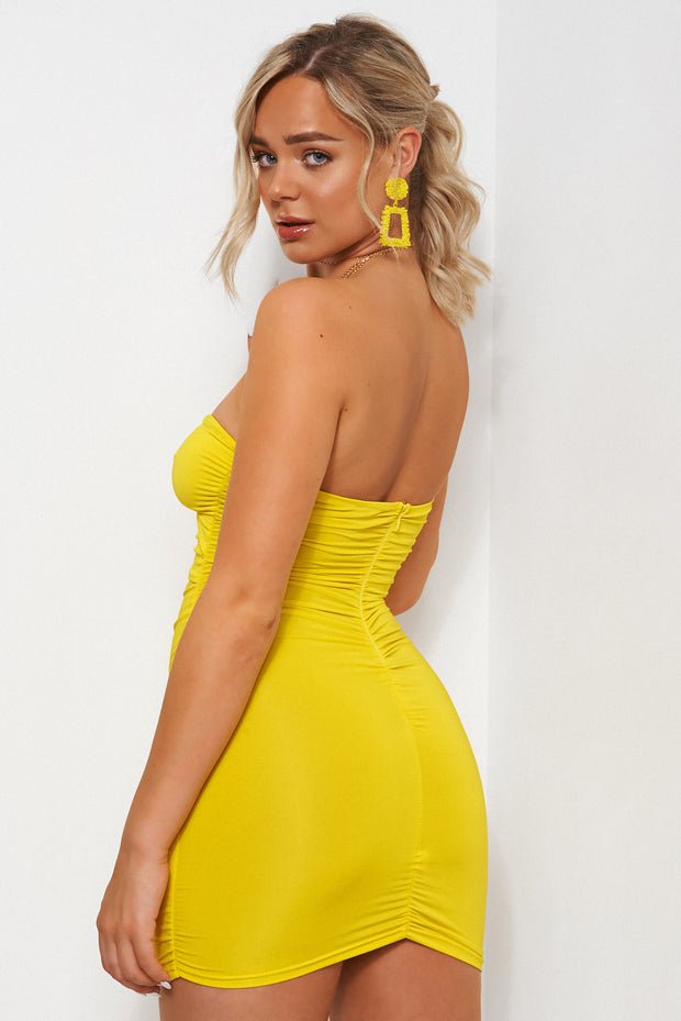 Dion Yellow Ring Bodycon Dress