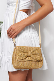 Ebony Straw Bow Bag