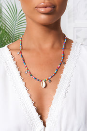 Multi Coloured Beaded Shell Necklace