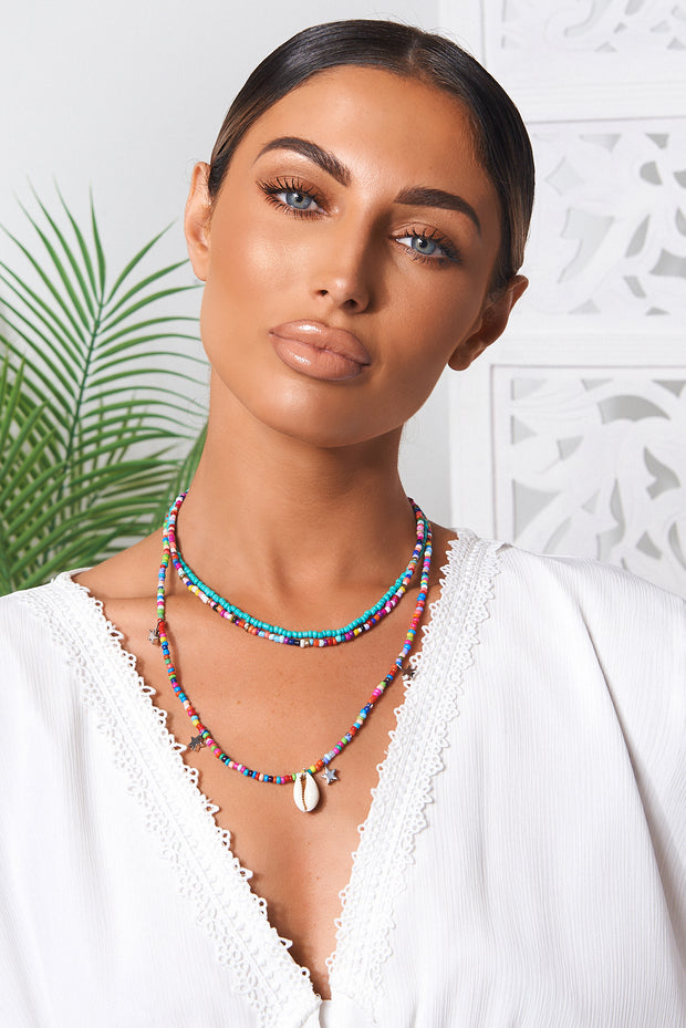 Aloha Beaded Necklace Set