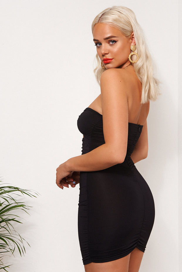 Dion Black Ring Bodycon Dress