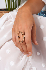 Oval Gold Ring