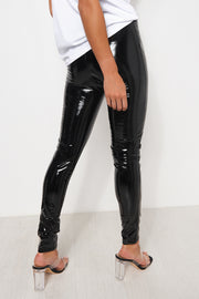 Black Shiny Vinyl Leggings