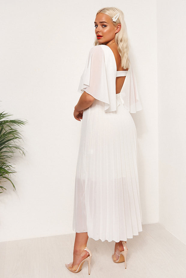 Tama White Open Back Maxi Dress