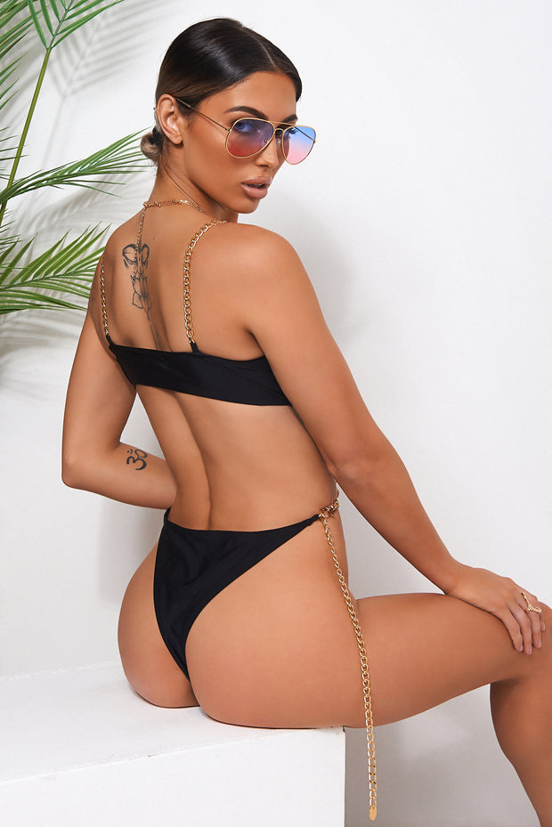 Black Chain Swimsuit