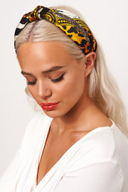 Leopard Print Jewelled Headband