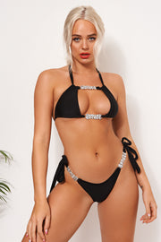 Indio Black Jewelled Bikini