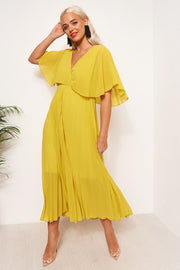Tama Yellow Open Back Maxi Dress