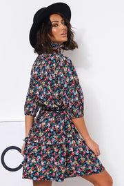 Poppy Blue Floral Shift Dress