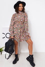 Aidy Pink Floral Shift Dress