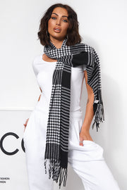Black Dogtooth Scarf