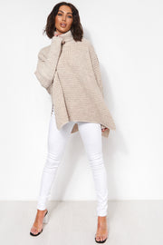 Oversized Beige Jumper