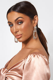 Gold Crystal Statement Earrings