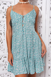 Etta Green Floral Slip Dress