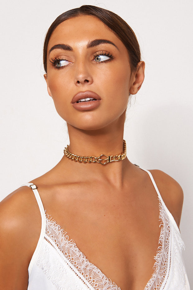 Gold Buckle Choker