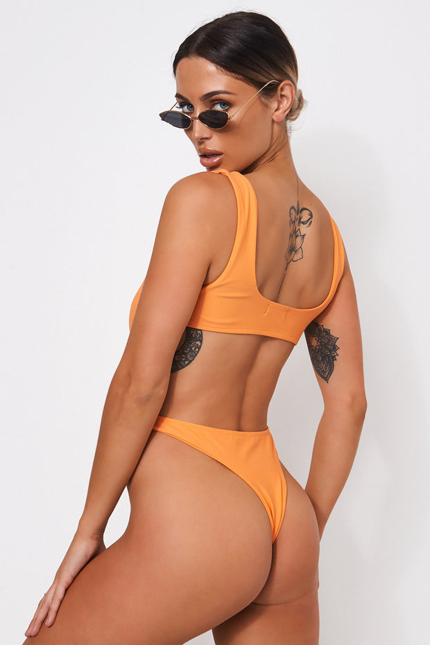 Garbo Orange Buckle Swimsuit