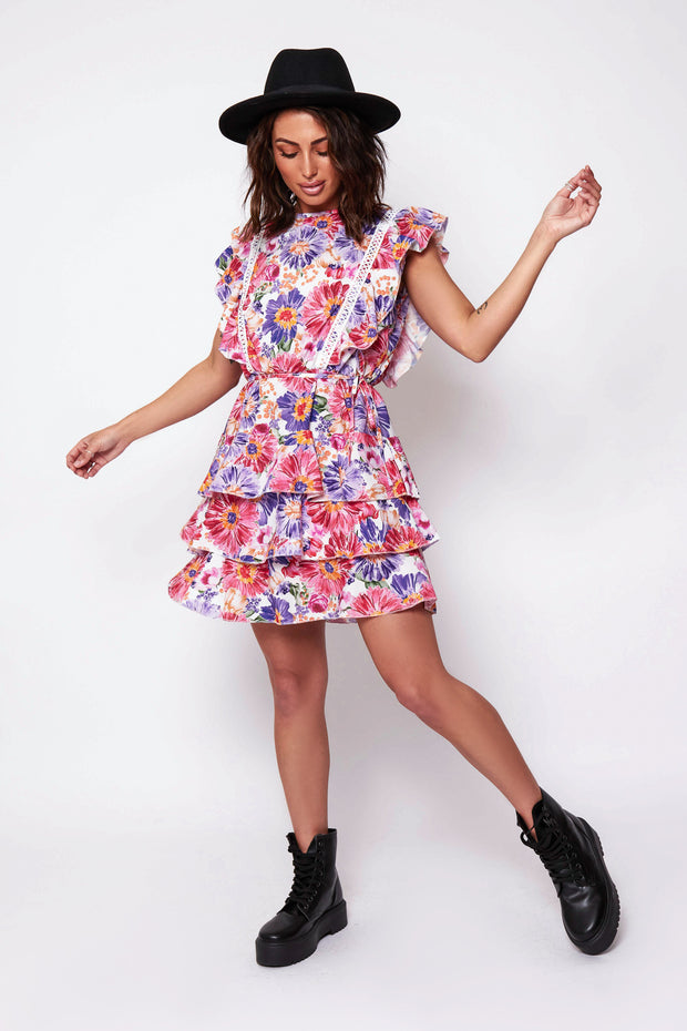 Floral Backless Shift Dress