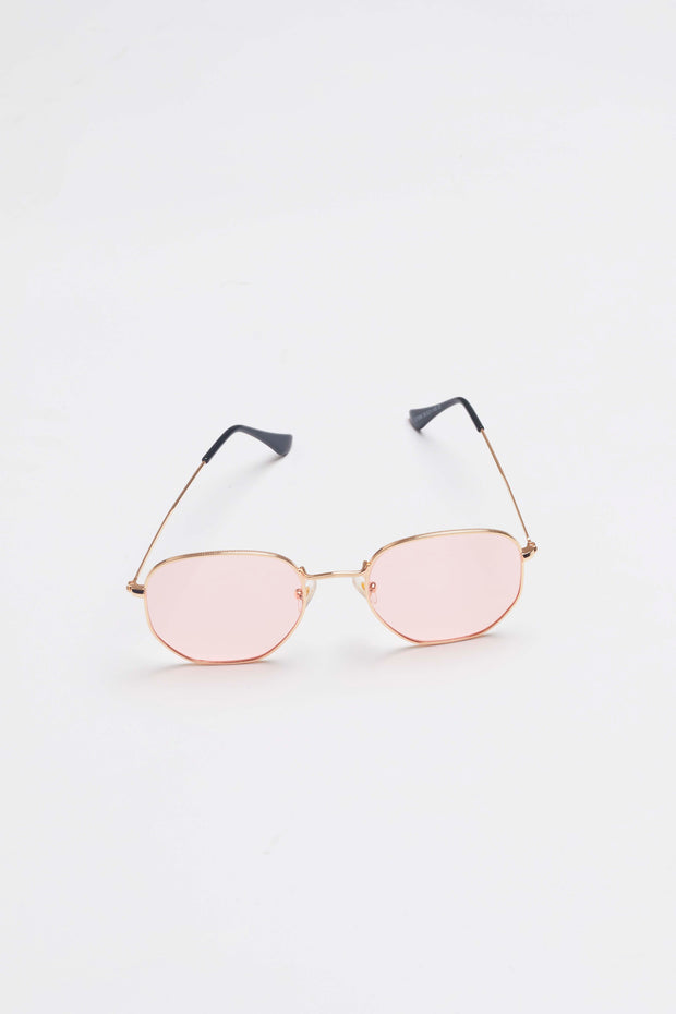 Gold & Pink Sunglasses