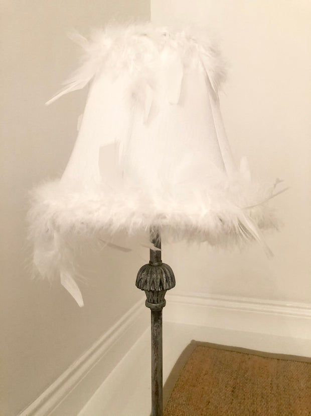 Vintage Silver Feather Lamp