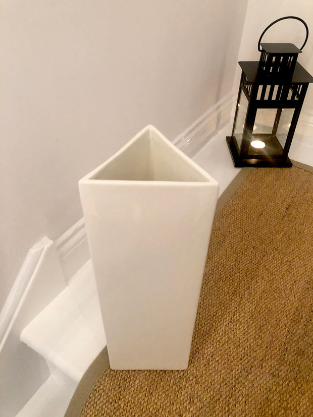 Cream Triangle Vase